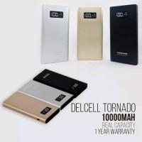 Powerbank Delcell Tornado 10000 mah Original Slim Power Bank Delc