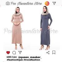 Baju wanita muslim Manset Atasan Panjang Spandek Daleman Gamis warna