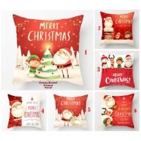 BANTAL + Sarung Bantal Sofa Nuansa Natal X'MAS (45 x 45) christmas