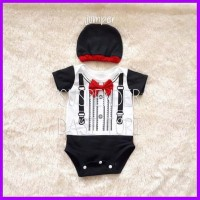 Baju Bayi Laki Laki Jumper - Bayi Tuxedo Suspender