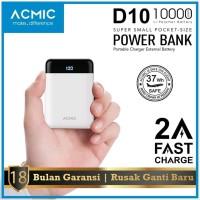 Powerbank ACMIC D10 LCD 10000mAh Mini Power Bank ORIGINAL GARANSI