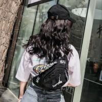 Unisex Supreme Waterproof Waistbag - Tas Pinggang Pria Wanita Import