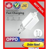 Charger OPPO VOOC Fast Charging Micro USB 4A Original - Putih