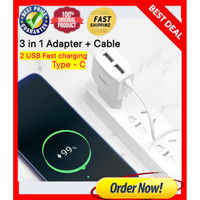 Charger Android Fast Charging KUALITAS ORI Type C to Lightning 2.4 A