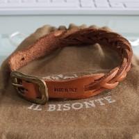[preloved] Gelang Kulit Asli IL BISONTE Leather Braid Bracelet