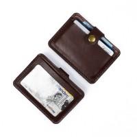 Dompet Kartu emoney simple card holder slim wallet kulit asli DKK-C05