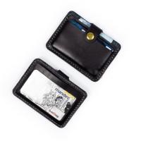 Dompet Kartu emoney simple card holder slim wallet kulit asli DKK-Bk05