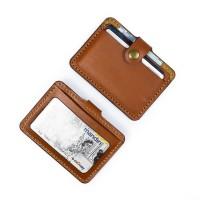 Dompet Kartu emoney simple card holder slim wallet kulit asli DKK-T05