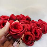 Kepala Bunga Mawar Bulat Kuncup Bahan Hiasan Dekorasi Seserahan Mahar
