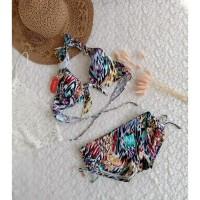 Bikini motif bra celana ikat baju renang pantai swimwear wanita B313