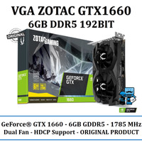 VGA ZOTAC GTX1660 6GB DDR5 192BIT - Original Product