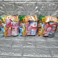 Paket souvenir ulang tahun Snack dan celengan karakter