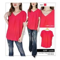 Blouse Wanita Branded- 25784- 25785- 25786- 23ae-sol-pk- coral red v
