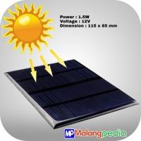 DIY Mini Star Modul Tenaga Surya Matahari Solar Cell Panel 12V 1.5W