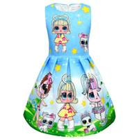 Dress anak LOL import - Dress Jacquard 0123