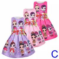 Dress anak LOL - C import - Dress Jacquard 0123