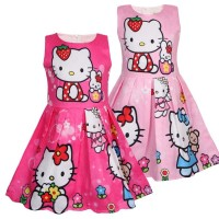 Dress anak FROZEN / LOL / HELLO KITTY import - Dress Jacquard 0123
