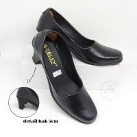 sepatu pantofel kerja sekolah wanita tinggi 5cm