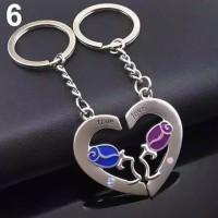 Gantungan kunci pasangan True love - Keychain couple stainless steel
