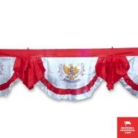 Bendera Indonesia Background Kipas Motif Sablon Garuda