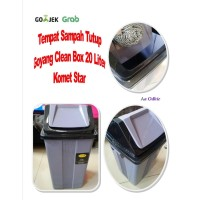 Tempat Sampah Tutup Dustbin Clean Box 20 Liter Komet Star - Only Gojek
