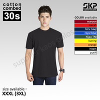 Kaos Polos Lengan Pendek Soft-Combed 30s [Size : 3XL]