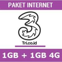 Voucher Paket Kouta Internet Three 2GB Full 24 Jam