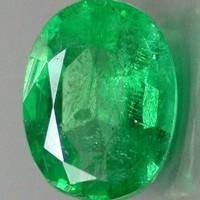 Batu Permata Zamrud Rusia Oval Mix Cut Good Luster