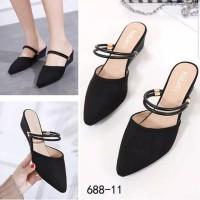 Sepatu sandal sendal selop hak tahu big high heels tm11