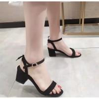 Sepatu sandal sendal wanita hak tahu big high heels tali pita nt 01