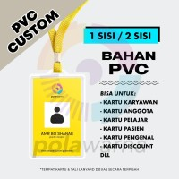 Cetak ID Card / Plastic Card PVC - Kartu Karyawan / Kartu Member