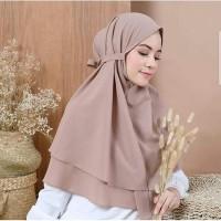 Jilbab Hijab Kerudung Instan Khimar Syari Bergo Tali 2 Layer Murah