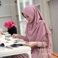 Jilbab Hijab Khimar Serut Malika Syari Instan 2 Layer Jumbo Termurah