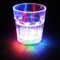 Gelas Nyala dengan ON OFF / keluar cahaya Lampu LED Unik / Lamp Night