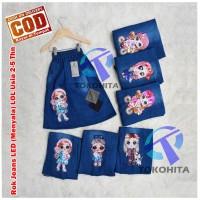 Rok Anak Jeans LOL LED (Bisa Menyala) Untuk usia 2-5 tahun