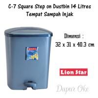Lion Star Tempat Sampah Injak Kotak 14 Lt C-7
