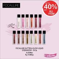 (READY & ORI!) Focallure Glitter & Liquid EyeShadow Multi Color Water