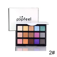 Popfeel Palet Eyeshadow 15 Warna Matte Shimmer Glitter / zoomstar