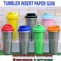 TUMBLER PROMOSI INSERT PAPER - G200 MURAH