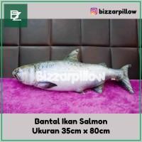 Bantal Ikan Salmon full printing Bantal Ikan Unik Size L
