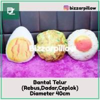 Bantal Telur Rebus , telur dadar , telur ceplok Bantal unik D40