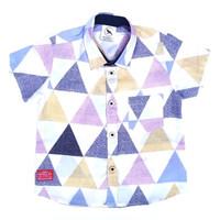 Kemeja Hem Anak bayi motif Piramid 0-6 tahun keren