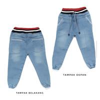 Celana panjang Jeans Redban Stretch 1 - 6 Tahun bluejeans belel gaul