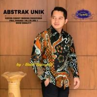 Baju Batik Pria Lengan Panjang Unik Abstrak Solo