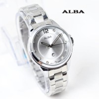 jam tangan ALBA WANITA BALOK TANGGAL SILVER ROSEGOLD HITAM BIRU