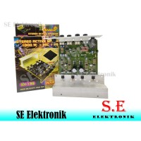 Kit speaker aktif 1000 w stereo +mic + power supply