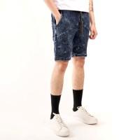 celana pendek denim soft jeans / celana pria pendek denim slim