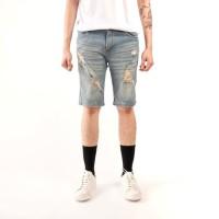 celana pendek pria denim / celana denim cowok / celana jeans pendek