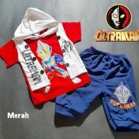 Setelan Baju Anak Rompi Ultraman