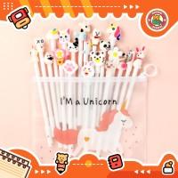 10pcs Pulpen Set Karakter White Free tempat pensil unicorn pvc BD0006